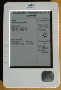 Calendar running on my working Kobo